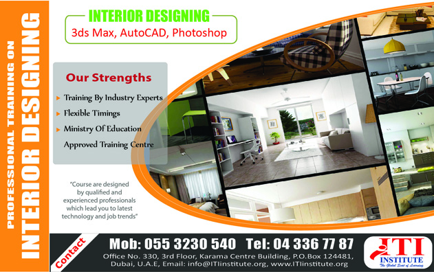 Interior designing training in Dubai